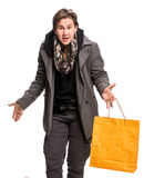 Smiling man with shopping bags Royalty Free Stock Photography