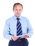 smiling man with tablet computer. Stock Photo