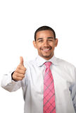 Smiling man thumbs up Royalty Free Stock Image