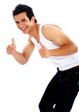 Smiling man - thumbs up Royalty Free Stock Photo