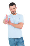 Smiling man with thumbs up Royalty Free Stock Photo