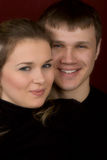 A smiling man and the woman. Close up royalty free stock photos