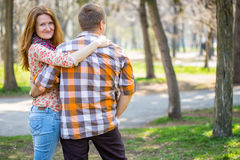 Smiling man and woman Royalty Free Stock Image