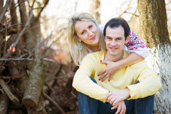 Smiling man and woman Royalty Free Stock Photography