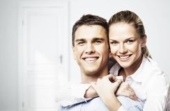 Smiling man and woman Royalty Free Stock Images