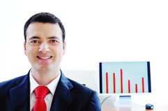 smiling manager executive Royalty Free Stock Image