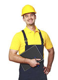 Smiling manual worker stock photos