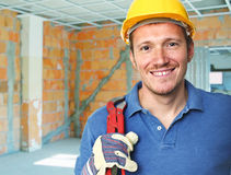 Smiling manual worker Stock Image