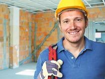 Smiling manual worker Stock Image