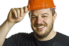 Smiling manual worker Royalty Free Stock Photography