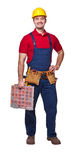 Smiling manual worker Royalty Free Stock Image