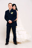 Smiling married couple in studio Stock Photo