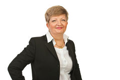 Smiling mature business woman Royalty Free Stock Photos
