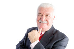 Smiling mature businessman in suit Royalty Free Stock Photos
