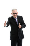 Smiling mature businessman with sunglasses Stock Photo
