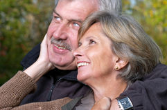 Smiling mature couple Stock Photos