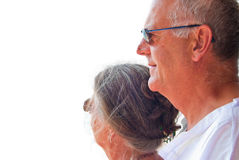 Smiling mature couple Stock Images