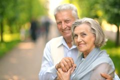 Smiling mature couple Stock Image