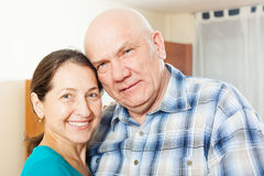 Smiling mature couple  in home Royalty Free Stock Photography