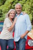 Smiling mature couple posing Royalty Free Stock Image