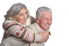 Smiling mature couple Royalty Free Stock Photo