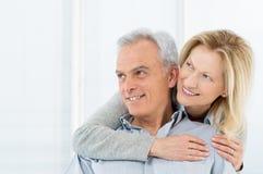 Smiling Mature Couple Vision. Portrait Of Happy Senior Couple Smiling Stock Photo