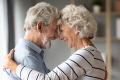 Free Smiling Mature Husband And Wife Share Romantic Moment Together Royalty Free Stock Photos - 174962638