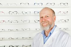 Mature ophthalmologist Royalty Free Stock Images