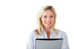 Smiling mature student looking at camera Royalty Free Stock Image