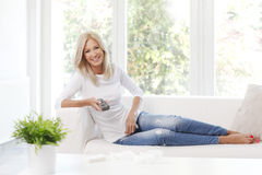 Smiling mature woman Royalty Free Stock Images