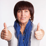 Smiling mature woman Stock Image