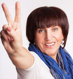 Smiling mature woman Royalty Free Stock Photography