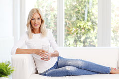 Smiling mature woman Stock Photography