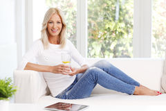 Smiling mature woman Stock Image