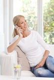 Smiling mature woman Stock Photos