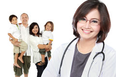 Smiling medical doctor. family healthcare concept Stock Image