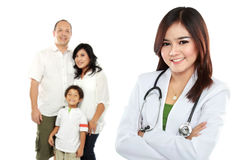 Smiling medical doctor. family healthcare concept Stock Photography