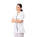 Smiling medical doctor or nurse Stock Photography