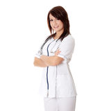 Smiling medical doctor or nurse Royalty Free Stock Image