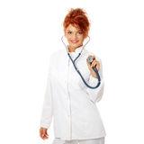 Smiling medical doctor or nurse Royalty Free Stock Photo