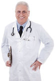Smiling medical doctor with stethoscope Stock Photos