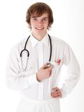 Smiling medical doctor with stethoscope. Stock Image