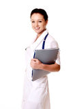 Smiling medical doctor woman Royalty Free Stock Photography