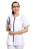 Smiling medical doctor woman Royalty Free Stock Images
