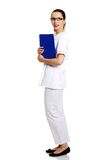 Smiling medical doctor woman Stock Photo
