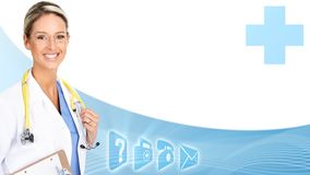 Smiling medical doctor woman. Royalty Free Stock Images