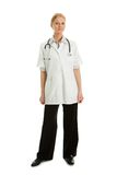 Smiling medical doctor woman with stethoscope Royalty Free Stock Photography
