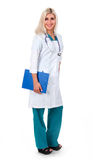 Smiling medical doctor woman with stethoscope Stock Photography