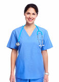 Smiling medical doctor woman with stethoscope. Stock Photo