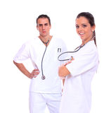 Smiling medical doctors with stethoscopes Royalty Free Stock Image